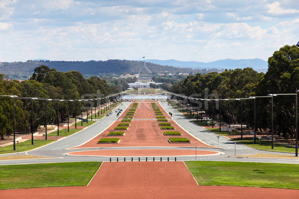 Canberra - Australia - View down Anzac Parade towards Parlament  Stock photo © jeayesy
