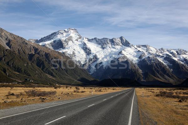 Nueva Zelandia meridional alpes cocinar carretera Foto stock © jeayesy