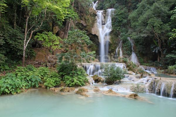 Eau automne Laos cascade à l'extérieur cascades Photo stock © jeayesy