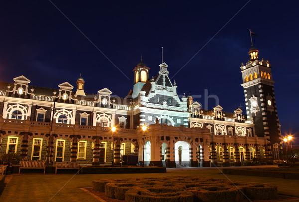 Dunedin Railway Station Stock photo © jeayesy