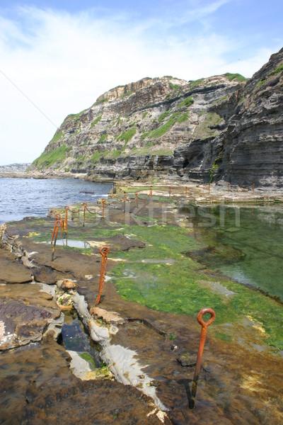 Agujero newcastle Australia océano piscina Foto stock © jeayesy