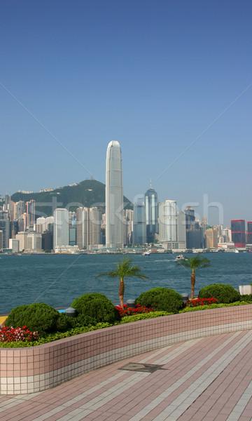 香港 スカイライン 星 庭園 青 旅行 ストックフォト © jeayesy