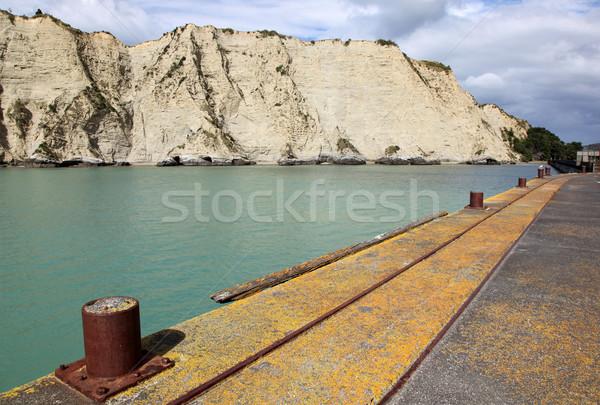 Stock fotó: észak · sziget · Új-Zéland · kisváros · part · új