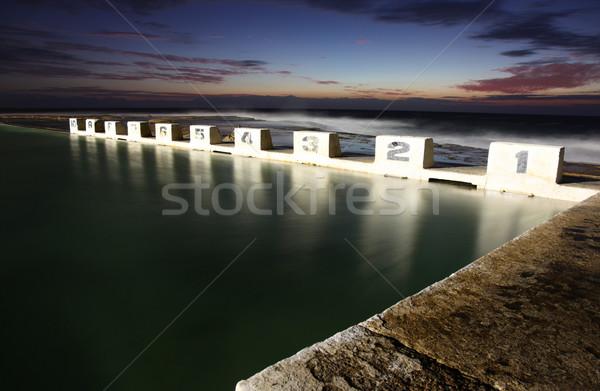 海 ニューカッスル オーストラリア 夜明け ストックフォト © jeayesy