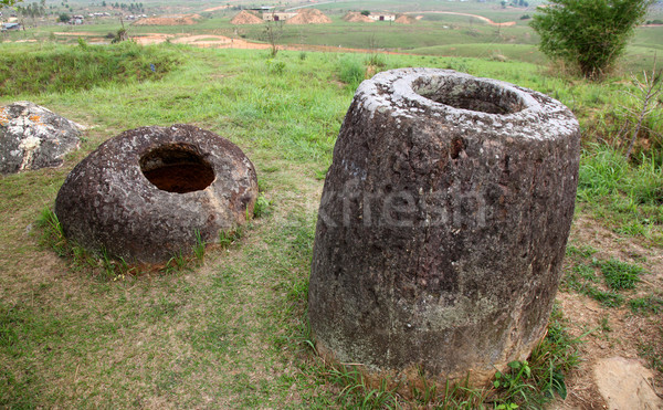 Plain of Jars in Phonsavan, Laos. Stock photo © jeayesy