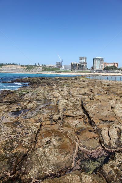 Newcastle Ausztrália tengerpart kenu medence második Stock fotó © jeayesy