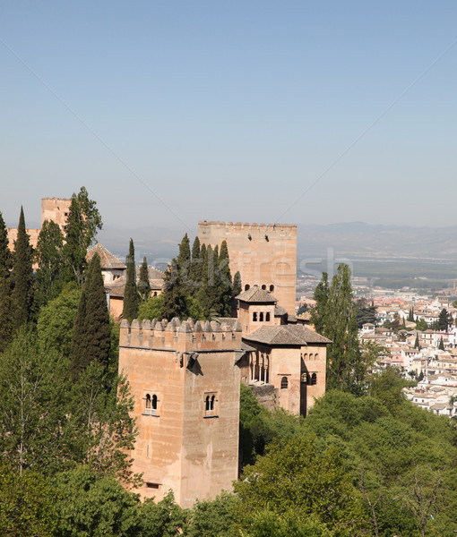 Alhambra İspanya görmek kale Bina Stok fotoğraf © jeayesy