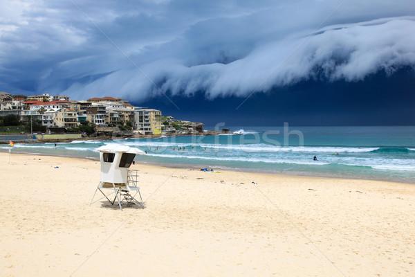 Plage tempête Sydney Australie sable surf Photo stock © jeayesy