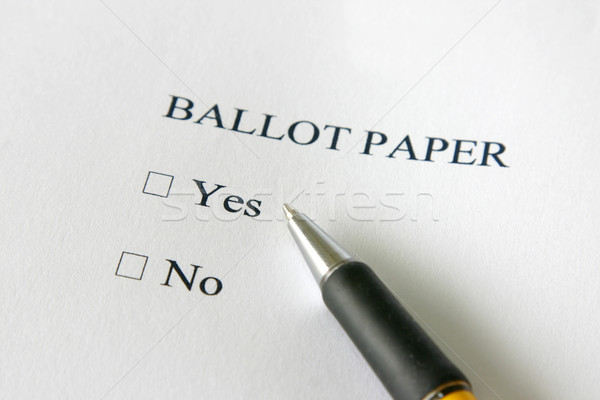 Tak nie referendum głosowanie papieru głosowania Zdjęcia stock © jeayesy