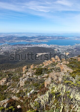 Tasmanie Australie Wellington vue haut au-dessus Photo stock © jeayesy
