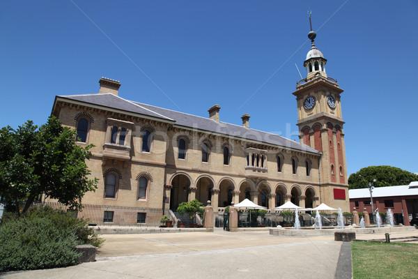 Vám ház Newcastle Ausztrália történelmi tájékozódási pont Stock fotó © jeayesy