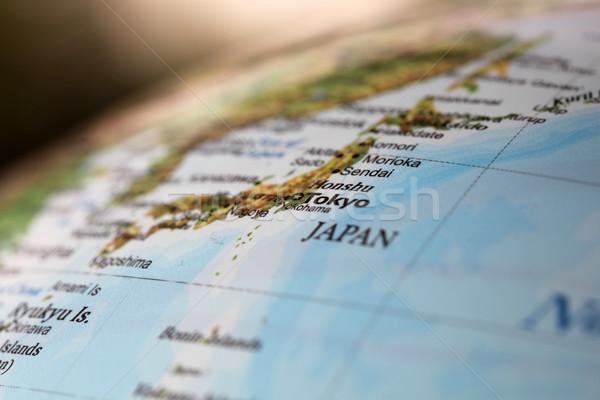 東京 日本 世界 世界中 浅い 地図 ストックフォト © jeayesy