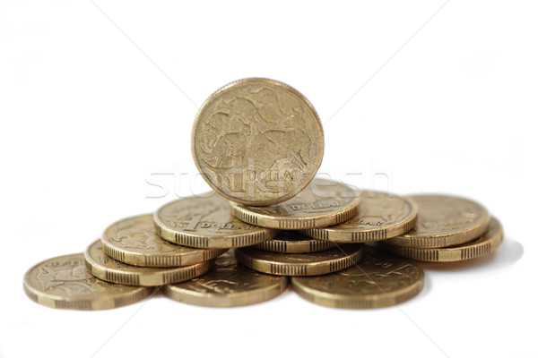 オーストラリア人 1 ドル コイン 孤立した 白 ストックフォト © jeayesy