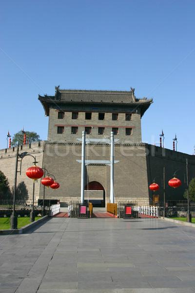 Város falak Kína fal ép ősi Stock fotó © jeayesy