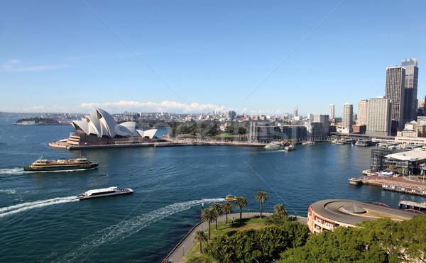 Sydney Austrália ver cais porto Foto stock © jeayesy
