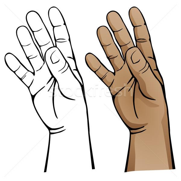 Abrir mão humanismo macio tanto preto Foto stock © jeff_hobrath