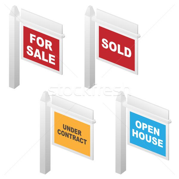 Gayrimenkul satış açmak ev sözleşme Stok fotoğraf © jeff_hobrath