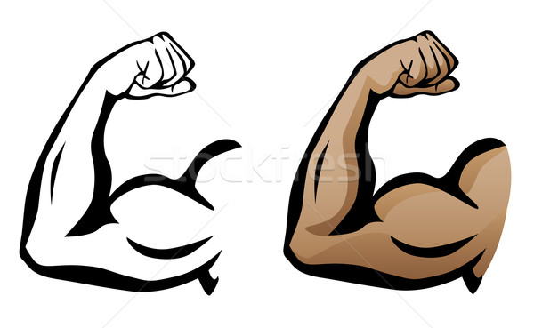 Muscular Arm Flexing Bicep Illustration Stock photo © jeff_hobrath