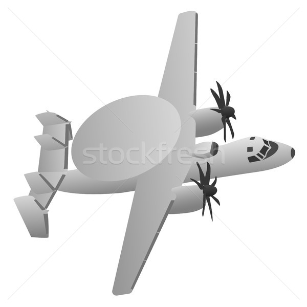 Military Early Warning Radar Aircraft Stock photo © jeff_hobrath
