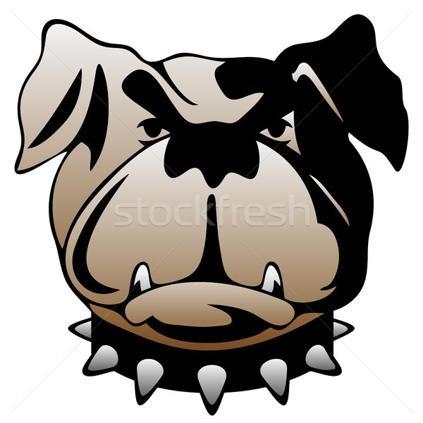 Guard Dog Face Vector Illustration Stock photo © jeff_hobrath