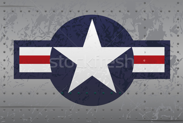 Militaire avion insigne illustration détaillée star Photo stock © jeff_hobrath