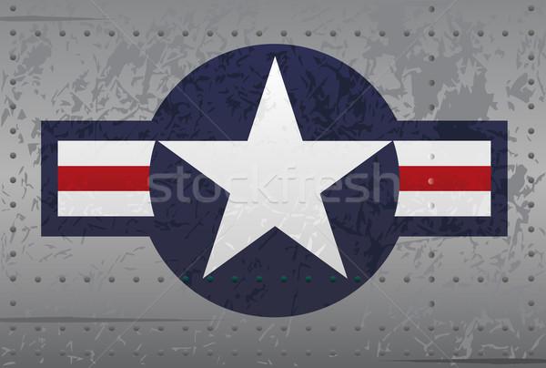 Military National Aircraft Insignia Distressed Illustration Stock photo © jeff_hobrath