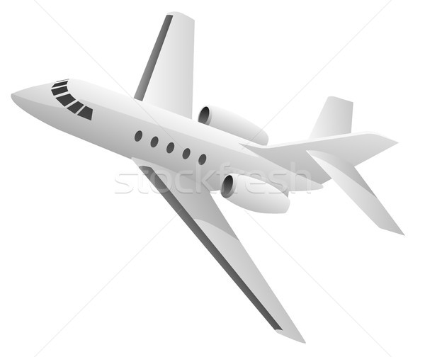 Business Jet Airplane Illustration Stock photo © jeff_hobrath