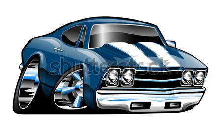 Clásico americano muscle car grande neumáticos cromo Foto stock © jeff_hobrath