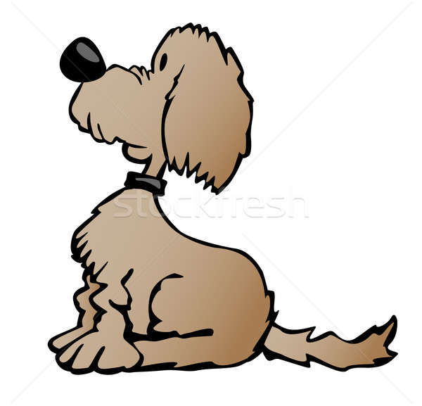 Sevimli karikatür köpek örnek oturma bakıyor Stok fotoğraf © jeff_hobrath