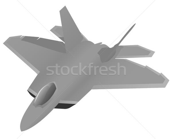Modern Military Fighter Jet Aircraft Stock photo © jeff_hobrath