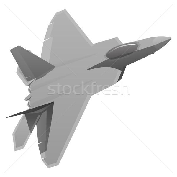 Katonaság vadászrepülő repülőgép repülőgép modern repülőgép Stock fotó © jeff_hobrath