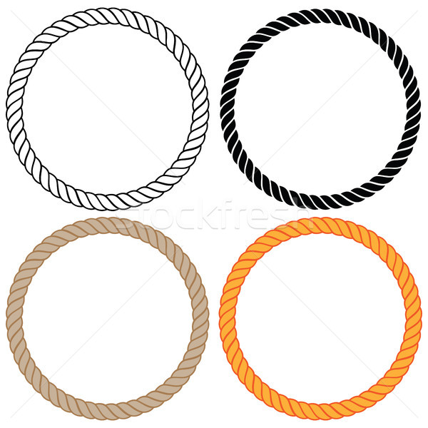 Braided twisted rope circles vector illustration  Stock photo © jeff_hobrath