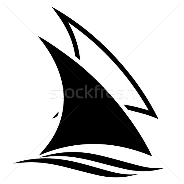 Sail Boats Vector Icon Logo Stock photo © jeff_hobrath