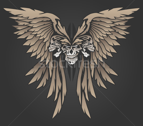 Three Skulls with Wings Stock photo © jeff_hobrath