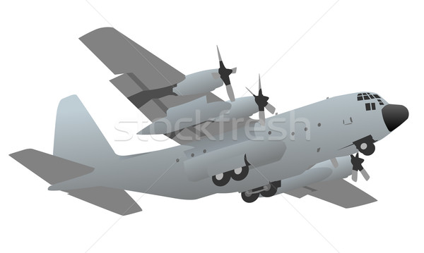 Military Transport Cargo Aircraft Illustration Stock photo © jeff_hobrath
