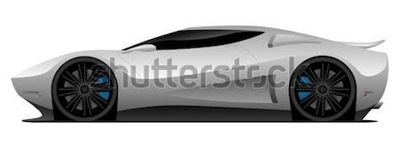 Super Car Vector Illustration Stock photo © jeff_hobrath