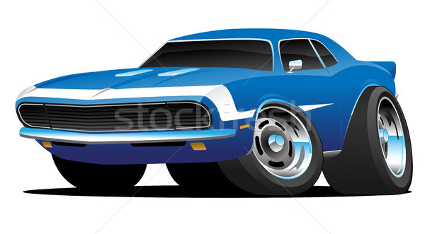 Klassiek sixties stijl amerikaanse muscle car hot rod Stockfoto © jeff_hobrath