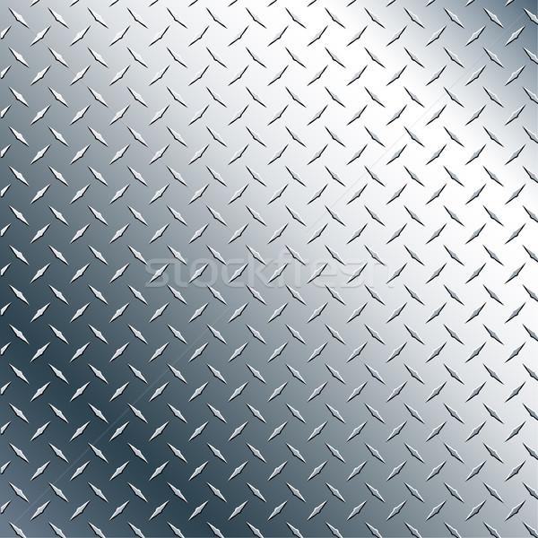 Cromo diamante prato realista vetor gráfico Foto stock © jeff_hobrath