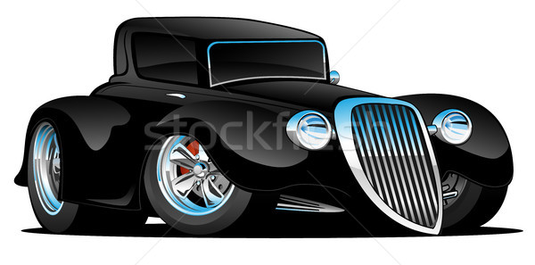 Foto stock: Preto · hot · rod · clássico · coupe · carro