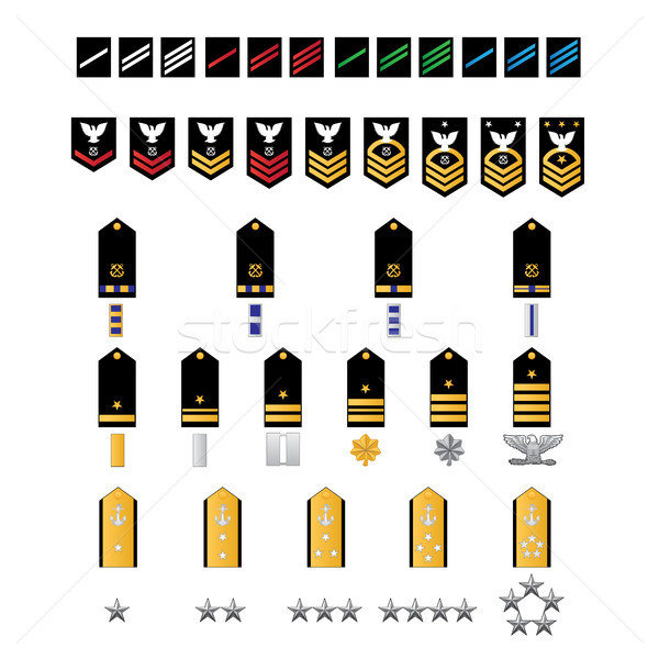 Naval Style Military Ranks Stock photo © jeff_hobrath