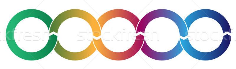Folyamat áramlás körök infografika vektor egyszerű Stock fotó © jeff_hobrath