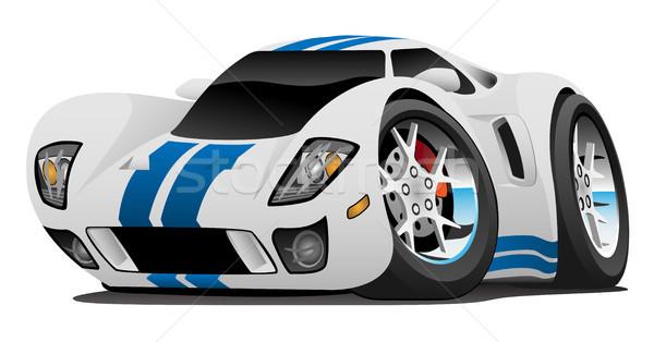 Super Car Cartoon Vector Illustration Stock photo © jeff_hobrath