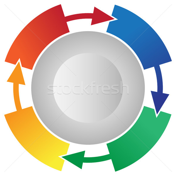4 Step Process Flow Circling Arrows Info-graphic Vector Stock photo © jeff_hobrath