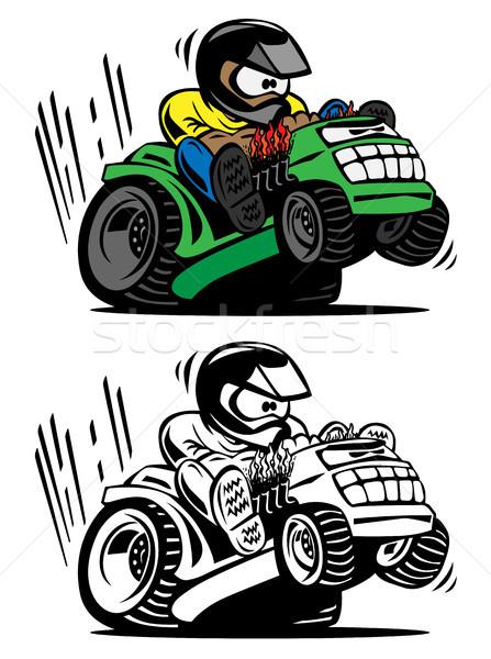 Desenho animado corrida diversão ilustração pessoa Foto stock © jeff_hobrath
