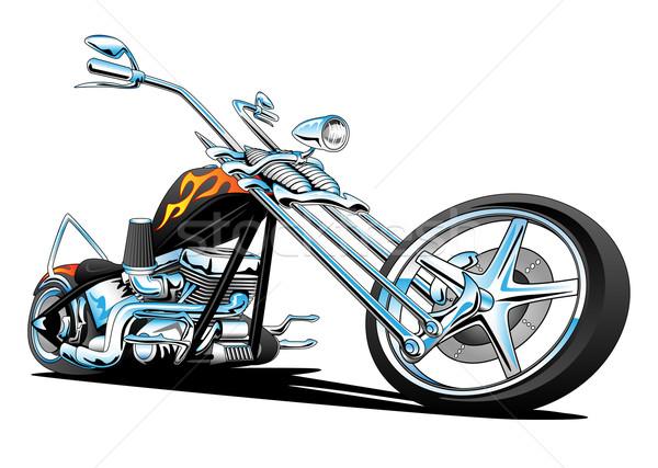 Custom American Chopper Motorcycle Stock photo © jeff_hobrath