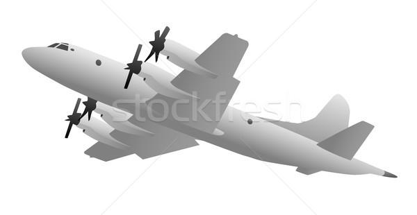 Naval Military Patrol Aircraft Illustration Stock photo © jeff_hobrath
