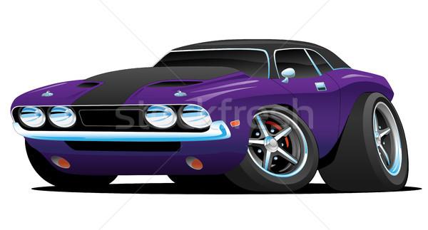 Classic Muscle Car Cartoon Illustration Stock photo © jeff_hobrath