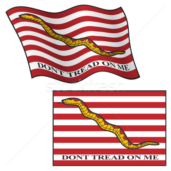 Dont Tread On Me Flag, Waving and Flat, Vector Graphic Illustration Stock photo © jeff_hobrath