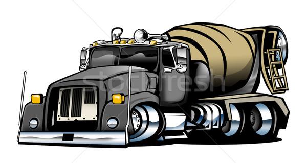 Cement vrachtwagen illustratie cool naar groot Stockfoto © jeff_hobrath