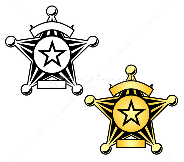 Sheriff Badge Illustration Stock photo © jeff_hobrath